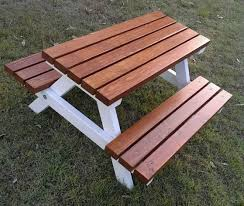 furniture years handmade kids timber picnic table stunning wooden outdoor and chairs nz round wood