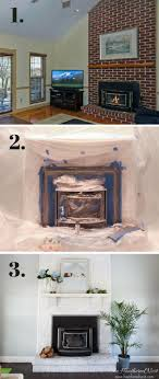 painting a fireplace with high temperature spray paint is a super inexpensive and very easy diy