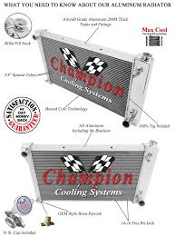1967 -72 Chevy Truck Champion Cooling Systems CC369 Radiator 3 Row ...