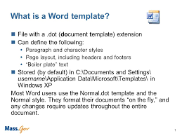Normal Dot Template Microsoft Word Templates And Accessibility 1 What Is A Word