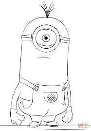 Small Picture One eyed Minion Tim coloring page Free Printable Coloring Pages
