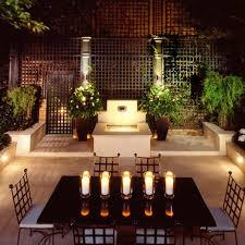 Small Picture Elegant Garden Design With Amazing Wooden Table Using Candle