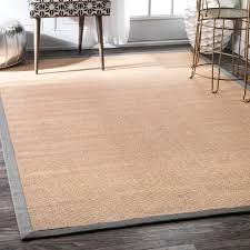 natural fiber reversible cotton border jute rug beach style area rugs by nuloom