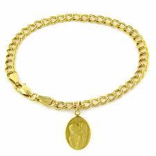14k gold guardian angel charm bracelet