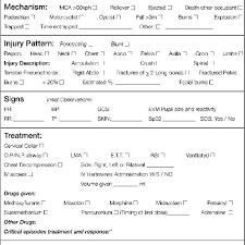 The Mist Template M Mechanism Of Injury Illness I