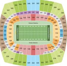Chiefs Seating Chart With Rows Arrowhead Stadium Tickets With No Fees At Ticket Club
