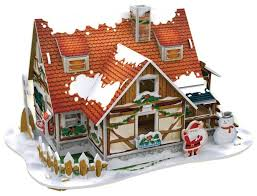 3D-пазл <b>CubicFun Рождественский домик</b> 1 (P647h), 53 дет ...