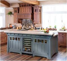 Blue Paint For Kitchen Country Kitchen Colors Blue Kitchen Cabinet And Beige Paint Color