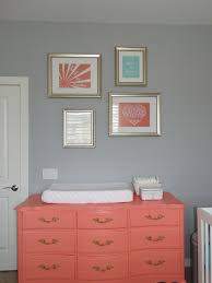Coral Painted Rooms Coral Mustard Yellow Baby Girl Nursery Design Http Wwwthe