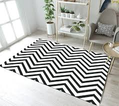 gray and white striped rug black and white stripes area rugs simple style indoor bedroom floor