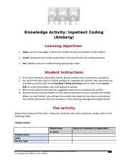 Inpatient Coding Amberg _ck1002 2 Docx Knowledge Activity
