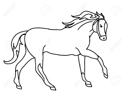 Simple Horse Drawing At Getdrawingscom Free For Personal Use