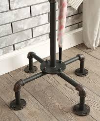 Black Pipe Coat Rack Furniture of America Antique Black Dester Industrial Metal Pipe Coat 17