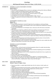 Technical Lead Resume Engineering Technical Lead Resume Samples Velvet Jobs 13