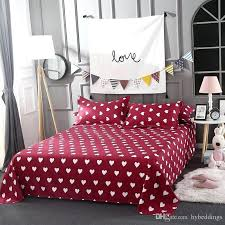 red cotton double duvet cover whole love heart bedding set white hearts bed