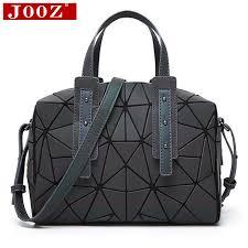 JOOZ Triangular block Stitching Luminous women <b>handbag new</b> ...