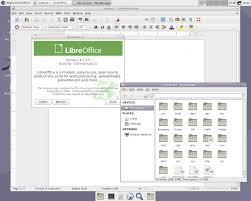 browsing files and running libreoffice