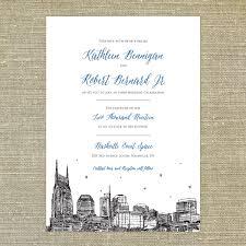 Nashville Skyline Wedding Invitation Sample Only Nashville