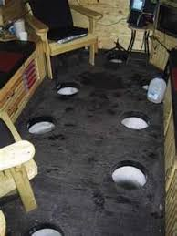 Ice fishing  Build your own and Fishing on PinterestWOW     Ice fishing shack interior    I could probably enjoy