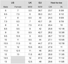 Soccer Boot Size Chart Www Deverkenner Nl