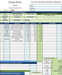 Free Printable Auto Repair Invoice Template Excel Microsoft Word