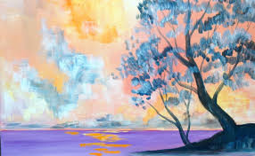 easy acrylic painting lesson misty morning lake the art sherpa you