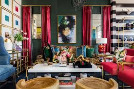 use dark green in your living room