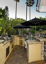 patio outdoor stone kitchen bar:  outdoor kitchen bar patio tropical with tropical landscape outdoor kitchen