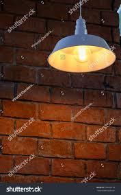 The Brick Lighting Vintage Light On Brick Wall Stock Photo Edit Now 544608133