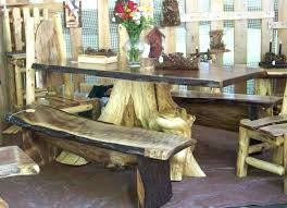 tree trunk table base glass uk top dining with