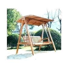 outdoor swings and gliders glider with canopy patio wooden swing home decor