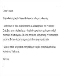 Letter Of Intent To Return To Work After Resignation 8 Maternity Resignation Samples Templates Free Word