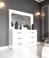 Modern Bedroom Mirrors Modern Bedroom Dresser Impressive Ibiza Set Bed Dresser Mirror And