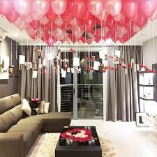 birthday room decoration ideas for girlfriend wedding decor
