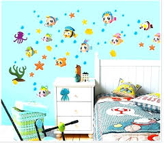 under the sea wall decals sea wall decal marine life under the sea wall decal stickers decor tropical fish bath room sea wall decal wall decal mermaid