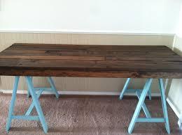diy pallet sawhorse desk