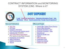 Ppt Contract Information And Monitoriing System Cim