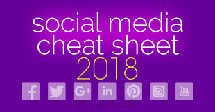 social a cheat sheet with image sizes for facebook twitter