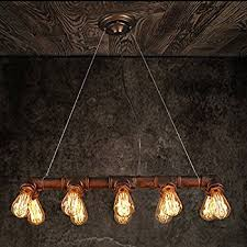 steampunk lighting. WINSOON Retro INDUSTRIAL STEAMPUNK LAMP IRON PIPE ISLAND CEILING FIXTURE PENDANT LIGHT VINTAGE (Bronze) Steampunk Lighting