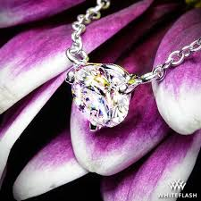 ing a diamond solitaire pendant