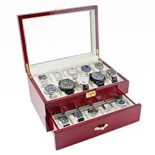 watch boxes shop the best deals on watch accessories for 2017 caddy bay collection glossy rosewood 20 watch storage case