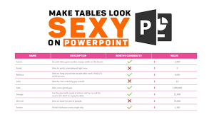 Nice Powerpoints How To Make Your Powerpoint Tables Look Sexy Youtube