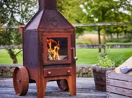 wood burning outdoor freestanding corten fireplace bijuga by rb73