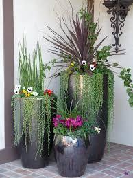 Black Large Indoor Flower Pots