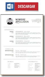 formato curriculo word plantilla curriculum vitae ejemplo cv hacer un curriculum