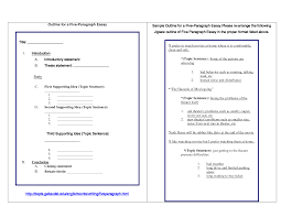 paragraph essay outline best photos of printable outline outlines for essays view larger