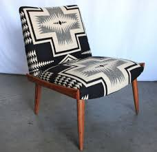 portland mid century furniture. Authentic Mid Century (Danish Modern) Eames Chair (walnut Or Teak?), Beautifully Re-upholstered In Blanket-weight Wool (black \u0026 Bone Navaho-inspired Portland Furniture