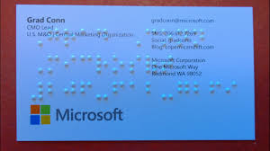 microsoft business card my braille business cards my grandfather dziadzi and microsoft