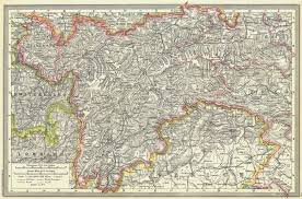 Austria The Austrian Tyrol 1907 Old Antique Vintage Map Plan Chart