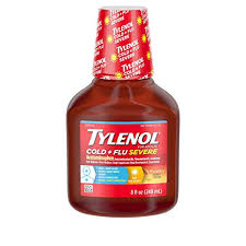 Tylenol Cold And Flu Severe Dosage Chart Tylenol Cold Flu Severe Flu Medicine Liquid Daytime Cold And Flu Relief Honey Lemon 8 Fl Oz